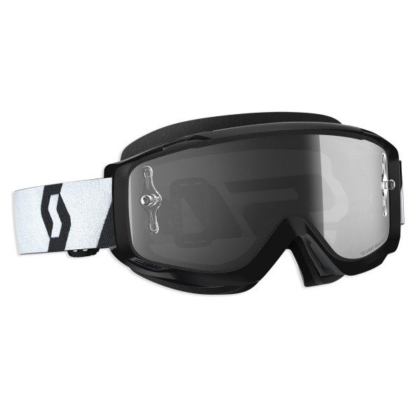 SCOTT SPLIT OTG LS BRILLE black/white / light sensitive grey works
